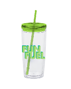 Fun Fuel Tumbler with Straw (20oz)