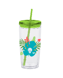 Smiley Palm Tumbler with Straw (20oz)